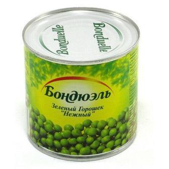 Горошок зелений консервований ж/б Bonduelle 400 г