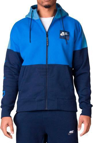 Джемпер Nike Air Full-Zip Fleece M NSW HOODIE AIR FZ FLC р. S синій 886044-465