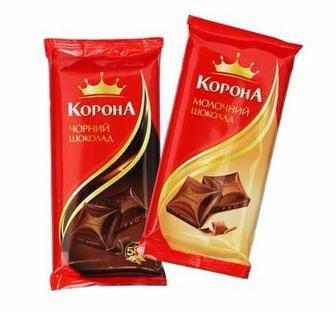 Шоколад Молочний, Чорний Корона 85г