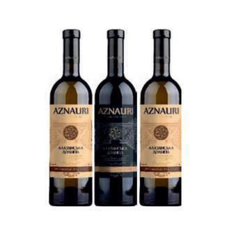 Вино біле, червоне Алазанська Долина напівсолодке Азнаурі 0,75л
