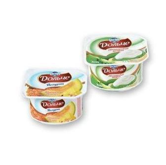 Йогурт двошаровий Дольче ківі 3,2% Lactel