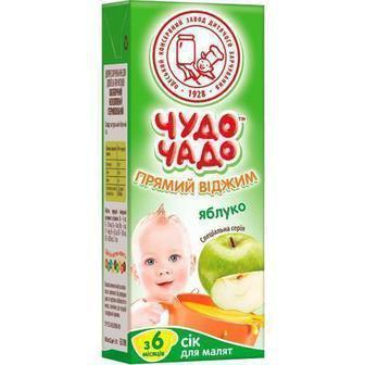 Сок виноградно-яблочный для детей с 6 месяцев Чудо чадо 0,2л