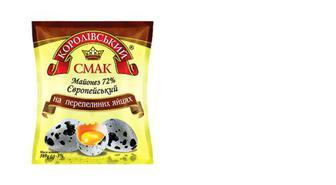 Майонез На перепелиних яйцях 72%, Королівський смак, 380г