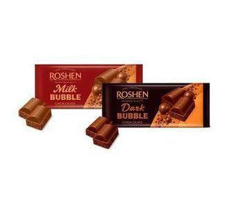 Шоколад пористий Dark bubble/Milk bubble Roshen 85Г