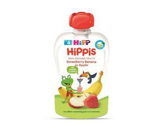 Пюре Hipp яблуко-полуниця-банан, 100г
