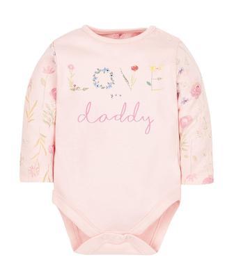 """Боді у рожевому кольорі """"Love you daddy"""" від Mothercare"""