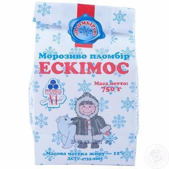 Скидка 33% ▷ Морозиво Рудь Ескімос пломбір 750г