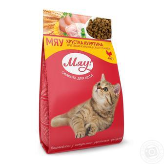 КОРМ для котів 400 г Мяу!