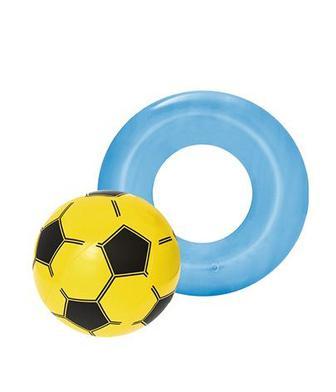 М'яч пляжний 41 см, круг надувний 51 см Бествей