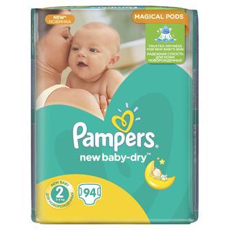 Підгузники Pampers New Baby-Dry MiniJumboPack3-6кг,94 шт, уп