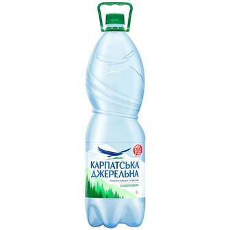 Вода мінеральна Карпатська джерельна слабогазована газ 1.5л