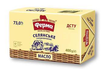 Масло селянське, 73% Ферма 400 г
