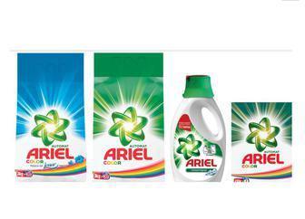 Порошок для автоматичного прання 450г   1,5 кг/ 4,5 кг, Гель для прання 1,95л Ariel