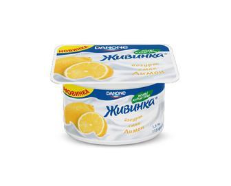 Йогурт молочний «Живинка» 1,5% жиру лимон, 115 г