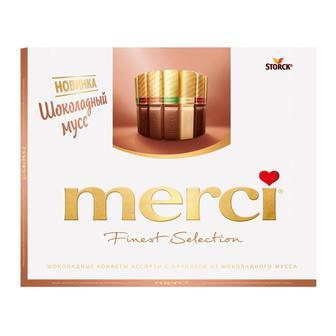 Шоколадные конфеты Merci шоколадный Мусс 210 г