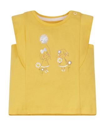 Жовта футболка з дівчинкою від Mothercare