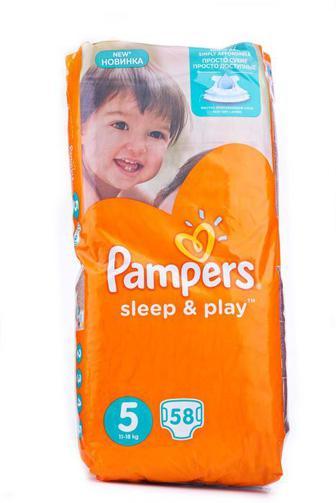 Подгузники PAMPERS Sleep & Play р5 11-16кг 58шт Рейтинг: 100%