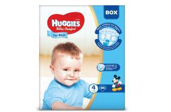 Підгузки Huggies Box Ultra Comfort для хлопчиків 4 (7-16 кг) 96 шт./уп