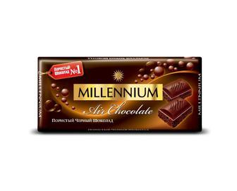 Шоколад пористий чорний Millennium Premium, 90 г