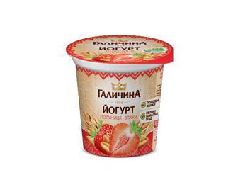 Йогурт «Галичина» полуниця-злаки 2,5% жиру, 280 г