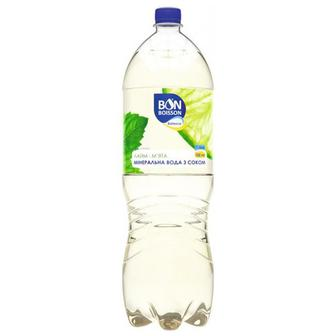Минеральной воды с соком Бон Буассон со вкусом лайм-мята 1 л