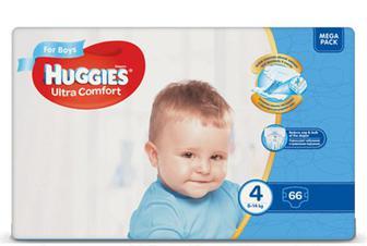 Підгузки Huggies Ultra Comfort для хлопчиків 4 (8-14 кг) 66 шт./уп