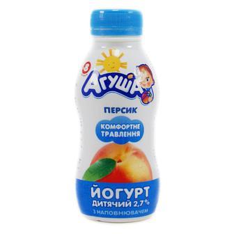 Йогурт «Агуша» дитячий персик, 2,7%, 200г