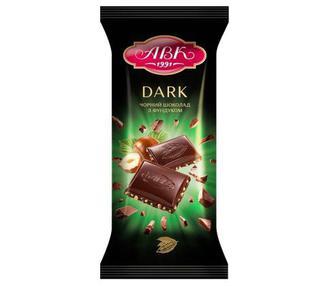 Шоколад АВК Чёрный с фундуком 90 г