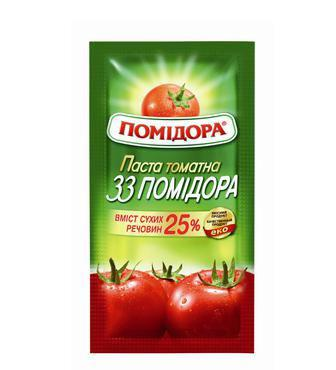 Паста томатна 33 помідора Помідора 460 г, 70гр