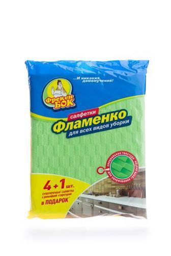 Салфетка Фрекен Бок для уборки Фламенко 34х38см, 5шт