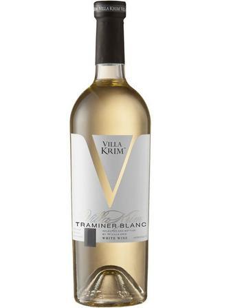 Вино Villa Krim Траминер белое полусладкое 0.75л