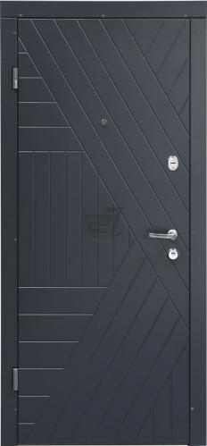 Двері вхідні Abwehr Nova АМ(2)-324 086Л АЦС Kale2 антрацит 2050x860 мм ліві