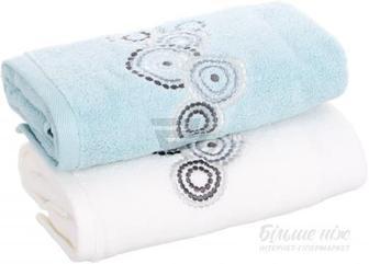 Набір рушників Коло з вишивкою 2 шт. білий / 40x70 см білий La Nuit