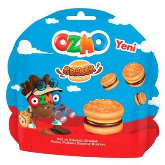 Печиво Ozmo Burger з мол. і шок. крем. та рис.кульк. 40г