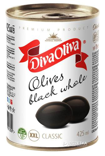 Маслины крупные XXL Diva Oliva 425 г