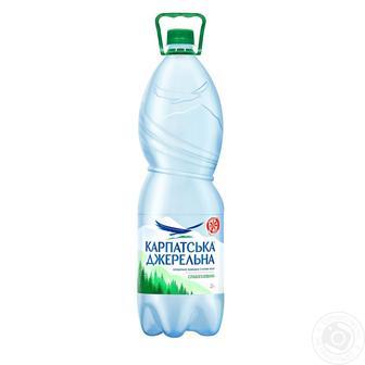 Вода слабогазированная Карпатська джерельна 2л
