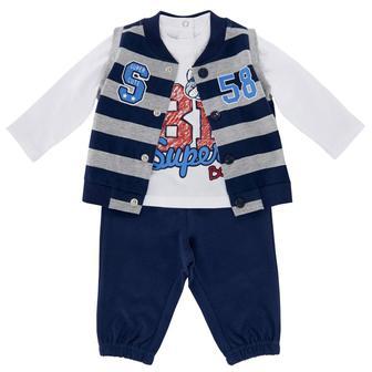 Комплект Super: жилетка, реглан и брюки
