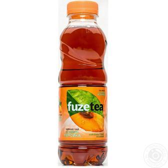 Напій Fuzetea Чорний чай зі смаком персика негазований 0,5л