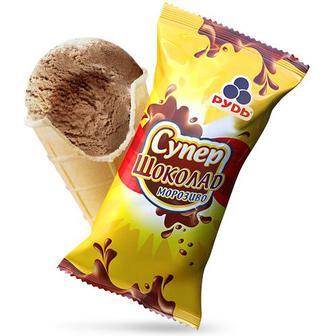 Морозиво Дитяче бажання/Скпер шоколад Рудь 70г