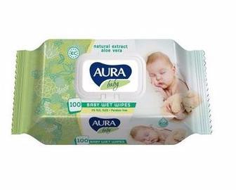 Дитячі вологі серветки Aura