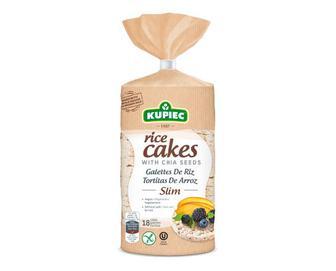 Хлібці Kupiec рисові з насінням чіа, 90г