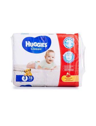 Подгузники Huggies Classic р3 4-9 кг78 шт