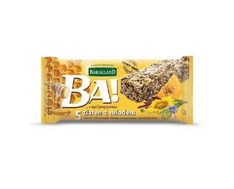Батончик Bakalland Ba! злаковий з насінням та медом, 40 г