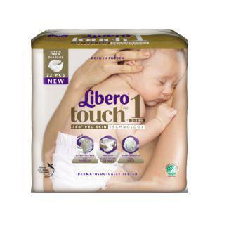 Підгузки Libero Touch Розмір 1 (2-5 КГ) Newborn 22 шт