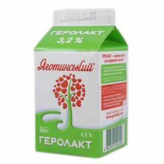 Напій к/м  Геролакт 3.2% Яготинське 500 г