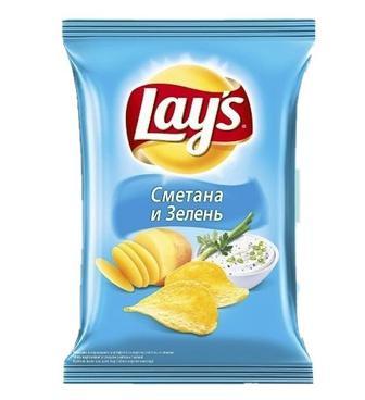Чіпси Lays Сметана-зелень 200г