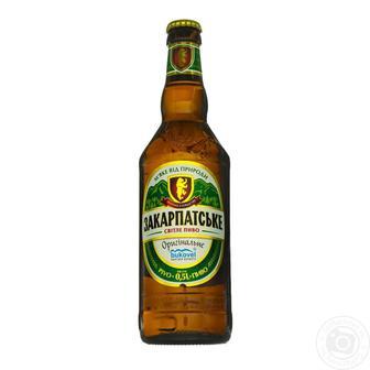 Пиво світле Закарпатське Перша приватна броварня 0,5 л