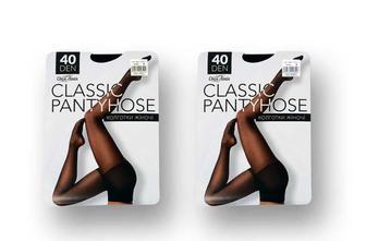 Колготки жіночі Classic pantyhose, 40 ден бежеві/чорні, р. 2, 3, 4, 5  Своя лінія  50 г