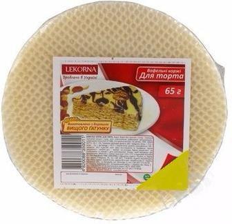 ВАФЕЛЬНІ КОРЖІ для торта, 65 г LEKORNA